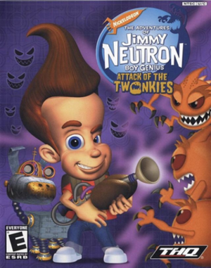 The Adventures of Jimmy Neutron Boy Genius: Attack of the Twonkies - North American cover art