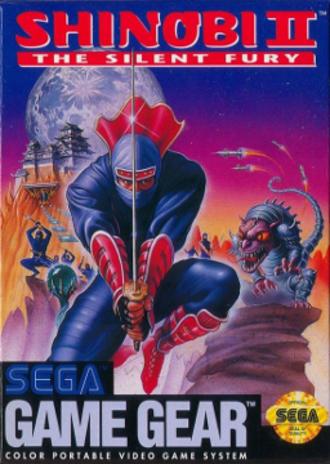 The G.G. Shinobi II: The Silent Fury - North American cover art