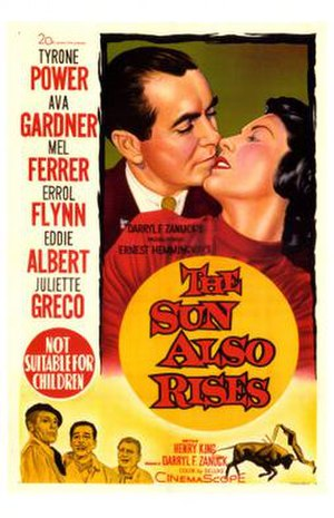 The Sun Also Rises (1957 film) - Theatrical release poster