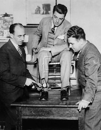 Tom Howard (photographer) - Tom Howard, with ankle camera being fitted.