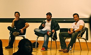 The Boondock Saints - Norman Reedus (left), Troy Duffy (center), and Sean Patrick Flanery (right) at Drexel University in Philadelphia, PA.