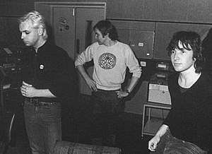 Tubeway Army - Tubeway Army's line-up for most of their recordings (L to R): Gary Numan, Jess Lidyard and Paul Gardiner