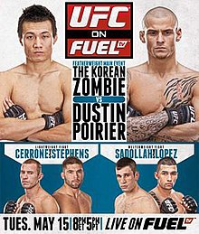 UFC on Fuel TV Korean Zombie vs. Poirier poster.jpg