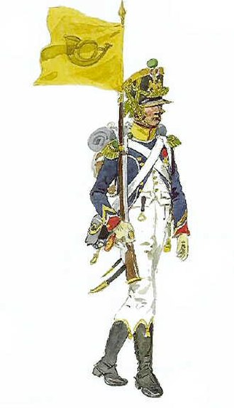 Voltigeur - A French Voltigeur Porte Fanion of the Young Guard c.1811