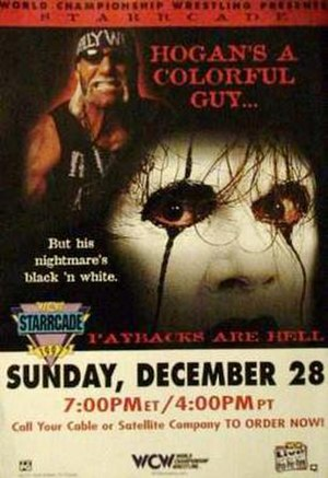 Starrcade (1997) - Promotional poster featuring Hollywood Hogan and Sting