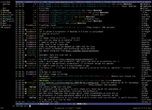 WeeChat 0.3.2 with the default configuration and the buffers.pl script in use