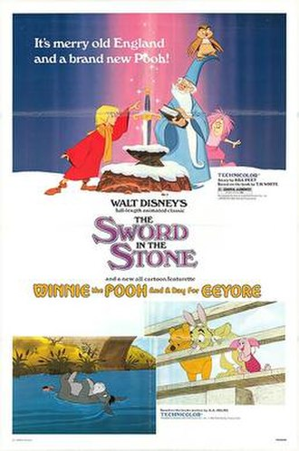 Winnie the Pooh and a Day for Eeyore - Theatrical release poster with The Sword in the Stone