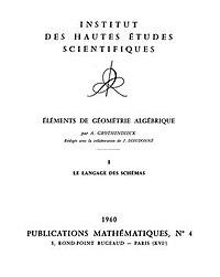 Éléments de géométrie algébrique title page.jpg