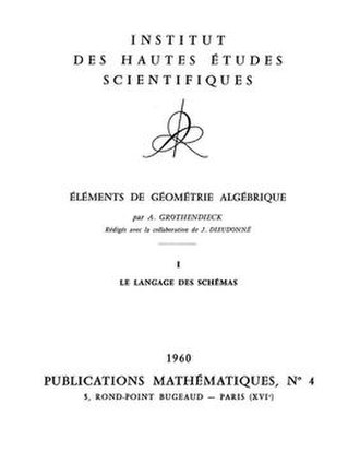 Glossary of algebraic geometry - The title page of Éléments de géométrie algébrique, one of the standard references in algebraic geometry.
