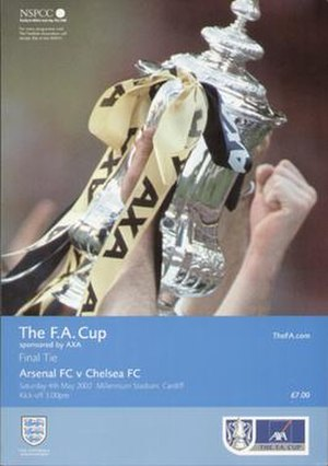 2002 FA Cup Final - The match programme cover