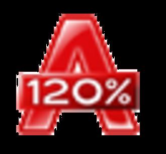Alcohol 120% - Image: A120 logo
