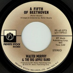 A Fifth of Beethoven - Image: A Fifth of Beethoven Walter Murphy single
