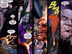 Multiple panels of Alexander Luthor Jr.'s death