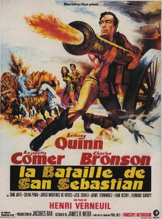 Guns for San Sebastian - French film poster