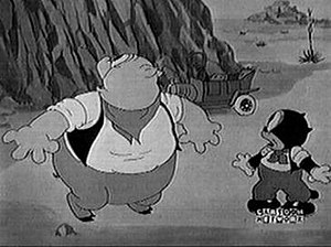 Beans (Looney Tunes) - Porky Pig and Beans in Gold Diggers of '49.