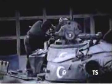 Captured azeri tank