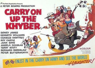 Carry On Up the Khyber - Original UK quad poster by Renato Fratini