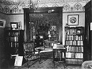 Chesnutt's library at his Cleveland home