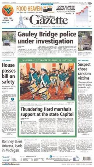 Charleston Gazette-Mail - Image: Charleston Gazette frontpage
