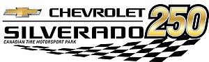 Chevrolet Silverado 250 - Image: Chevrolet Silverado 250 at Mosport Logo