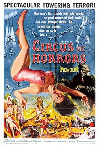 Circus of Horrors - Theatrical release poster