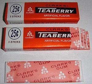Clark's Teaberry - Image: Clark's Teaberry Gum