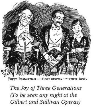 Rupert D'Oyly Carte - 1921 cartoon: D'Oyly Carte audiences