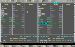 Screenshot of DOS Navigator
