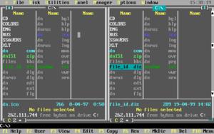 DOS Navigator - Image: DOS Navigator