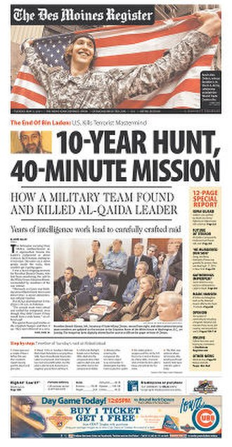 The Des Moines Register - Image: Des Moines Register front page