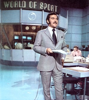 World of Sport (UK TV series) - Dickie Davies in the World of Sport studio.