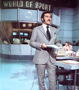 World of Sport (UK TV programme) - Dickie Davies in the World of Sport studio