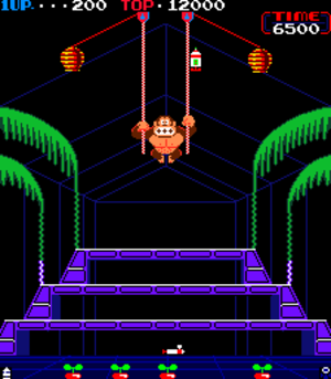 Donkey Kong 3 - Screenshot of Donkey Kong 3 (arcade version).