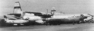 Don Muang Royal Thai Air Force Base - Royal Australian Air Force CAC Sabre; USAF C-133 and C-124 at Don Muang in June 1962