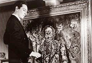 The Picture of Dorian Gray - Dorian Gray observes the corruption recorded in his portrait, in the film The Picture of Dorian Gray (1945).