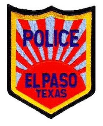 El Paso Police Department - Image: El Paso PD Patch