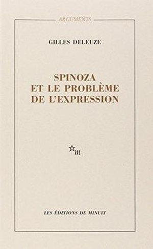 Expressionism in Philosophy: Spinoza - Cover of the first edition