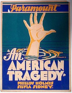 <i>An American Tragedy</i> (film) 1931 film