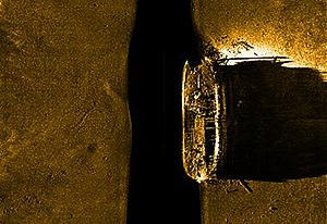 HMS Erebus (1826) - Side-scan sonar images of the wreck of Erebus