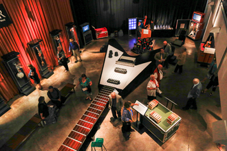 """National Guitar Museum - """"GUITAR: The Instrument That Rocked The World"""" exhibit."""