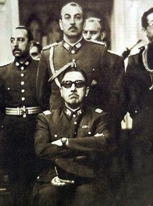 Chas Gerretsen - General Augusto Pinochet taken on 19 September 1973 in a Catholic church in Santiago