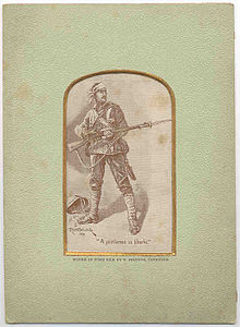 Man carrying a musket.