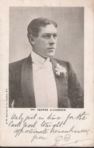 George Alexander (actor) - George Alexander on a postcard printed around 1901
