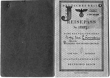German Jewish passports could be used to leave...