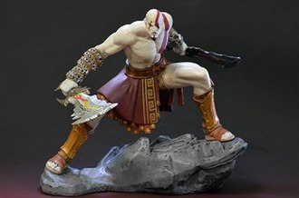 Kratos (God of War) - Kratos statue included in the God of War: Ascension—Collector's Edition.