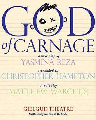 God of Carnage - God of Carnage original West End production poster