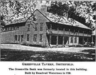 Smithfield Exchange Bank - Image: Greenville Tavern in Greenville, Rhode Island