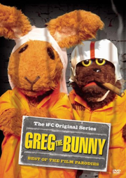 The cover for Greg the Bunny The Best of the Film Parodies DVD