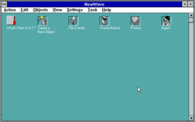 HP NewWave Office 4.1 default desktop.png
