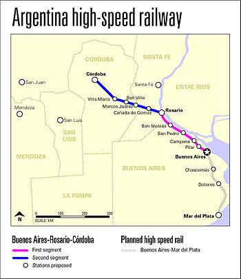 High speed railway map 3